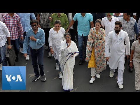 "Modi Opponent Mamata Banerjee Leads ""Anti-NRC"" Protest in India's Kolkata"