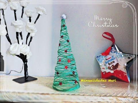 Arbol De Navidad De Hilo Manualidad Facil Diy Youtube - Manualidad-arbol-navidad