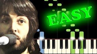 Video THE BEATLES - LET IT BE - Easy Piano Tutorial download MP3, 3GP, MP4, WEBM, AVI, FLV November 2018
