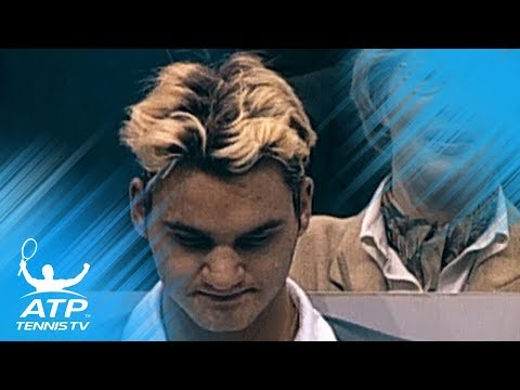 Roger Federer in Rotterdam in 1999 - with blonde hair!