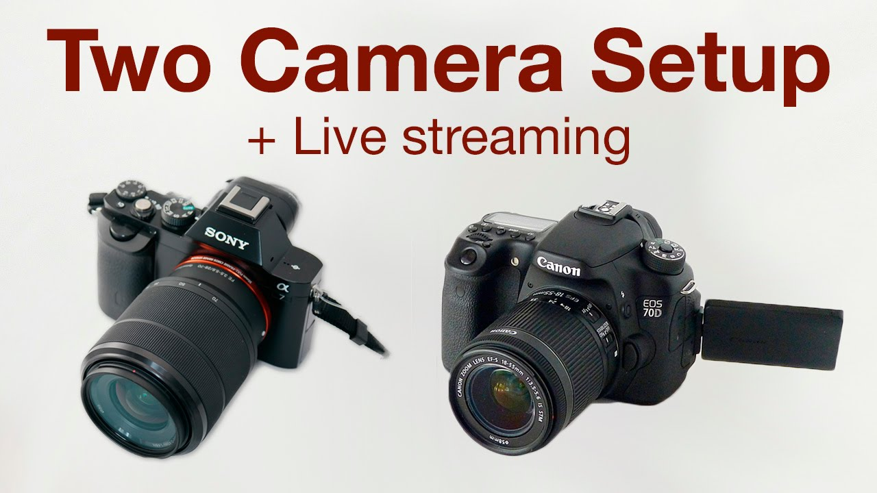 Two camera setup live streaming youtube for Camera streaming live