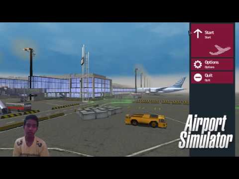 MY PLANE ALMOST CRASHED BY A TRUCK [ AIRPORT SIMULATOR 2 ] episode #1#