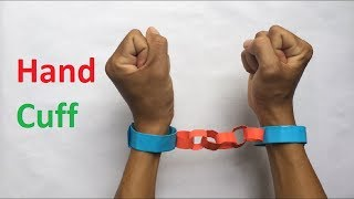 How to make a paper handcuff | How to make police handcuffs Create your own toys