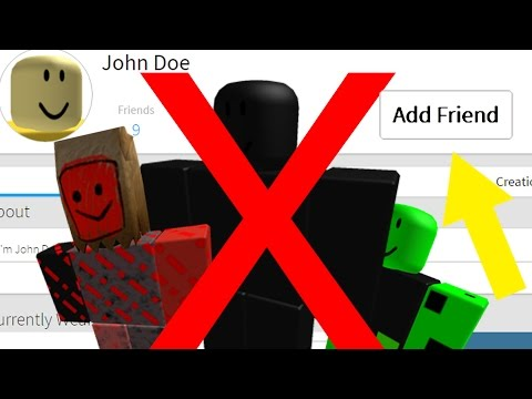 WARNING! Do NOT Add John Doe and Friends on ROBLOX!! (March 18th)