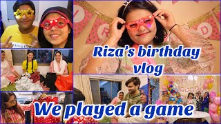 Riza's birthday vlog | shopping | family game | ibrahim family | celebration