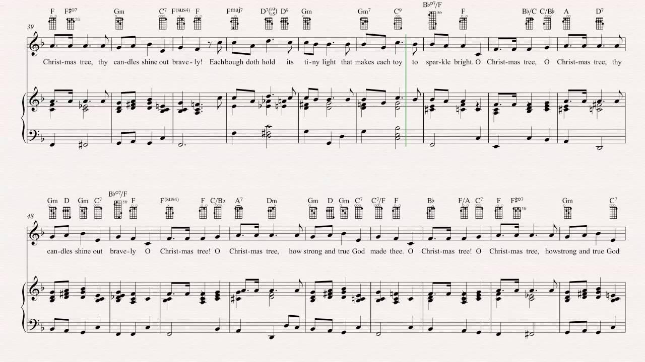 Ukulele - O Christmas Tree - Christmas Carol - Sheet Music, Chords ...