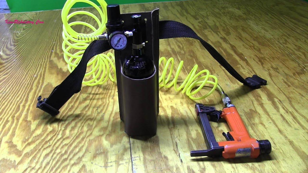 Upholstery Portable Air For Staple Gun   YouTube