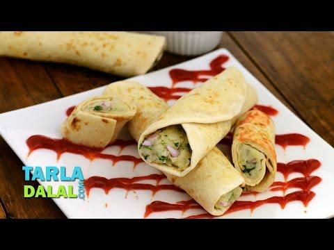 Potato Kathi Roll by Tarla Dalal