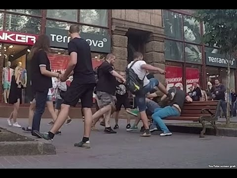 Gay Couple Attacked During Social Experiment In Kiev