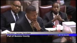 Senator James Sanders session remarks on S.6356-D