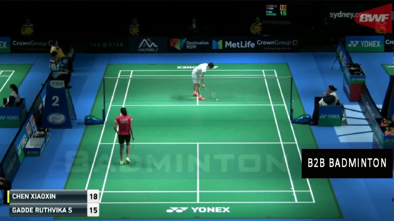Badminton 2017 Australian Open CHEN Xiaoxin vs GADDE Ruthvika