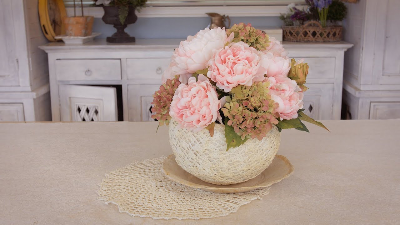 Simple peony table flowers arrangement youtube izmirmasajfo