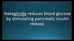 How to pronounce nateglinide (Starlix) (Memorizing Pharmacology Video Flashcard)
