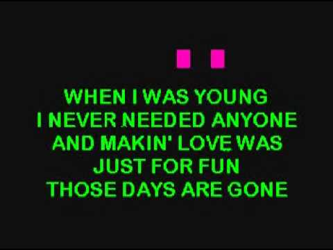 KARAOKE-ERIC CARMEN-ALL BY MYSEF