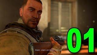 sniper elite iii part 1 save tobruk lets play walkthrough playthrough on pc