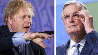 Boris Johnson clashes with European Union on trade plans