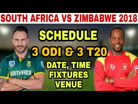 SOUTH AFRICA VS ZIMBABWE 2018 SCHEDULE, DATE, TIME, VENUE AND FIXTURES | SA VS ZIM 2018 thumbnail