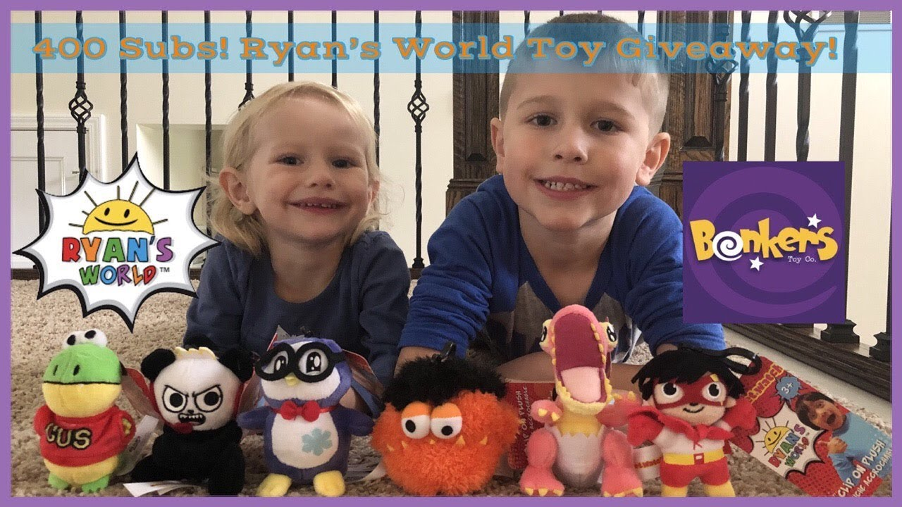 Ryan S World Toy Giveaway Ryan Toysreview Toys By Bonkers 400 Subs Milestone Giveaway Youtube