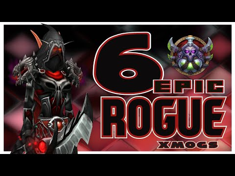 World Of Warcraft BFA - 6 Unique Rogue Transmog Sets