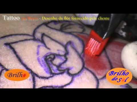 Art Brilho Ink Tattoo -  Rosa no Braço