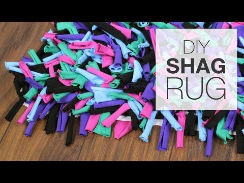 DIY Shag Rug Tutorial - YouTube