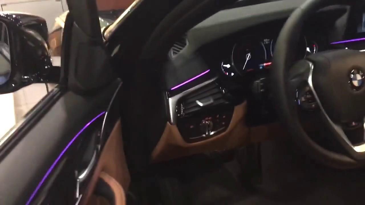 All New 2017 Bmw 5 Series Interior Lighting Youtube