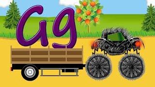 Çocuklar için #MonsterTruck örümcek #ABC çocuklar, mektup g için öğrenme, #karikatür
