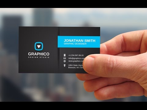 proyecto photo shop editable tarjeta de presentacion youtube