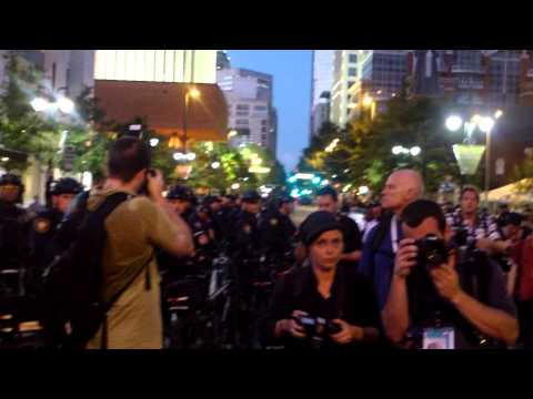 Occupy DNC 2012 - Police Move For Protesters