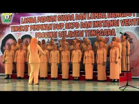 Lomba Paduan Suara Dharma Wanita DWP Provinsi Sulawesi Tenggara