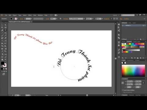 Bài 20. Tạo chữ chạy trong đường Path và uốn theo các hình vẽ trong Adobe Illustrator
