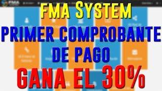 FMA System( Sistema de Ayuda Financiera Mutua)  Primer comprobante de pago .