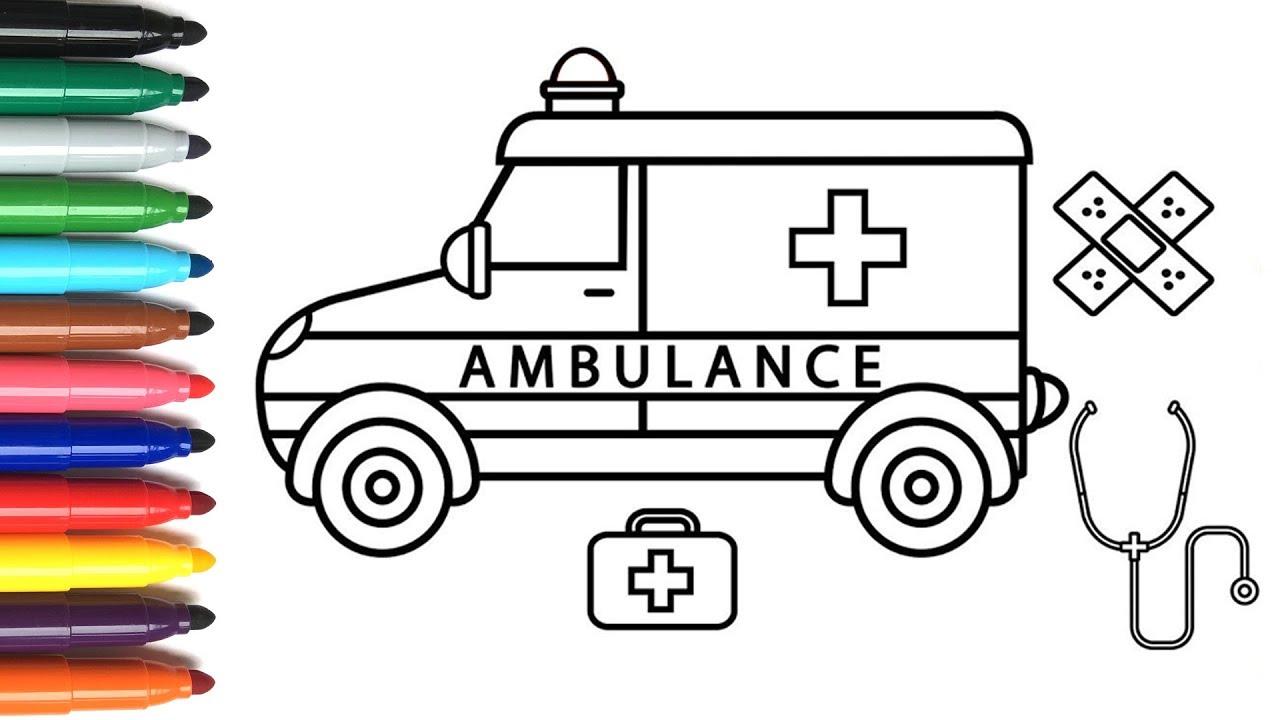 Cara Menggambar Mobil Polisi Dan Ambulans Untuk Anak Anak