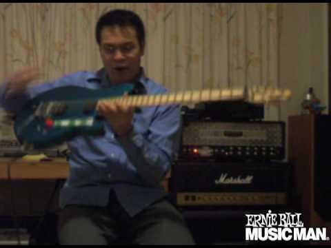 Ernie Ball Music Man YouTube Artist Jonathan Ho plays his Axis Guitar