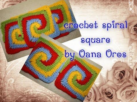 Crochet Spiral Square Youtube