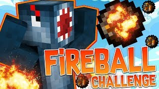 THE FIREBALL ONLY CHALLENGE in BEDWARS!! - Minecraft Mini Game