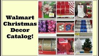 Walmart Christmas Decor Catalog | Shop With Me!