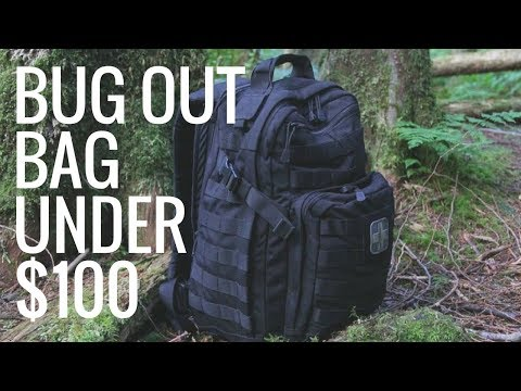 Making A Budget Bug Out Bag Under $100 - Amazon Survival Bag 2018