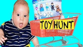 Toy Shopping TOO MANY BABIES Toy Hunt Walmart Frozen Baby Dolls Princess Little Kingdom Nerf