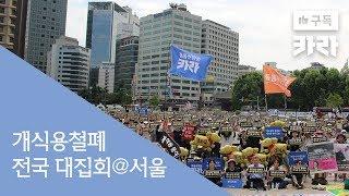 개식용 철폐 전국대집회 서울 시청광장 카라 이슈  KARA Issue