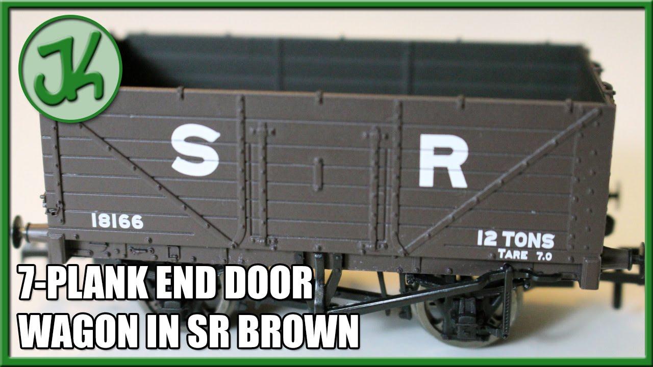 BACHMANN 37-090 7 PLANK END DOOR WAGON SR BROWN