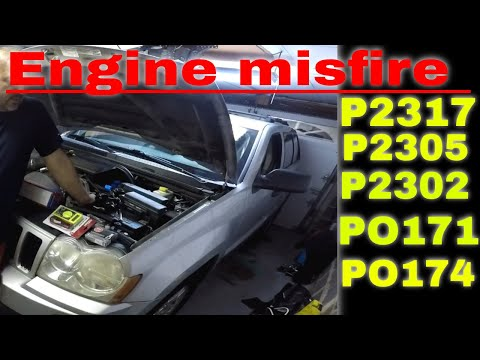 2005 Jeep Grand Cherokee Misfire Engine Code P2317 ,  P2305,  P2302 , Po174 , Po171