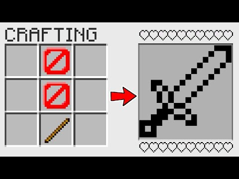 HOW TO CRAFT an INVISIBLE SWORD in Minecraft? SECRET RECIPE *O*