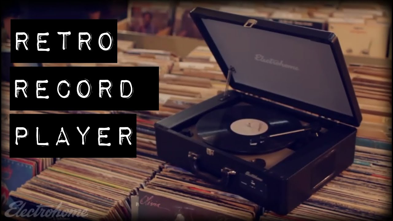 Electrohome Archer Retro Record Player Turntable System