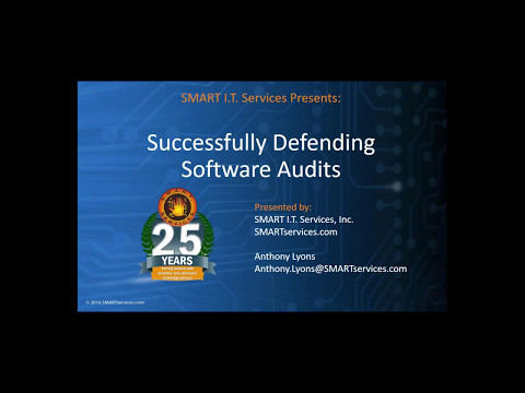 Successfully Defending Software Audits