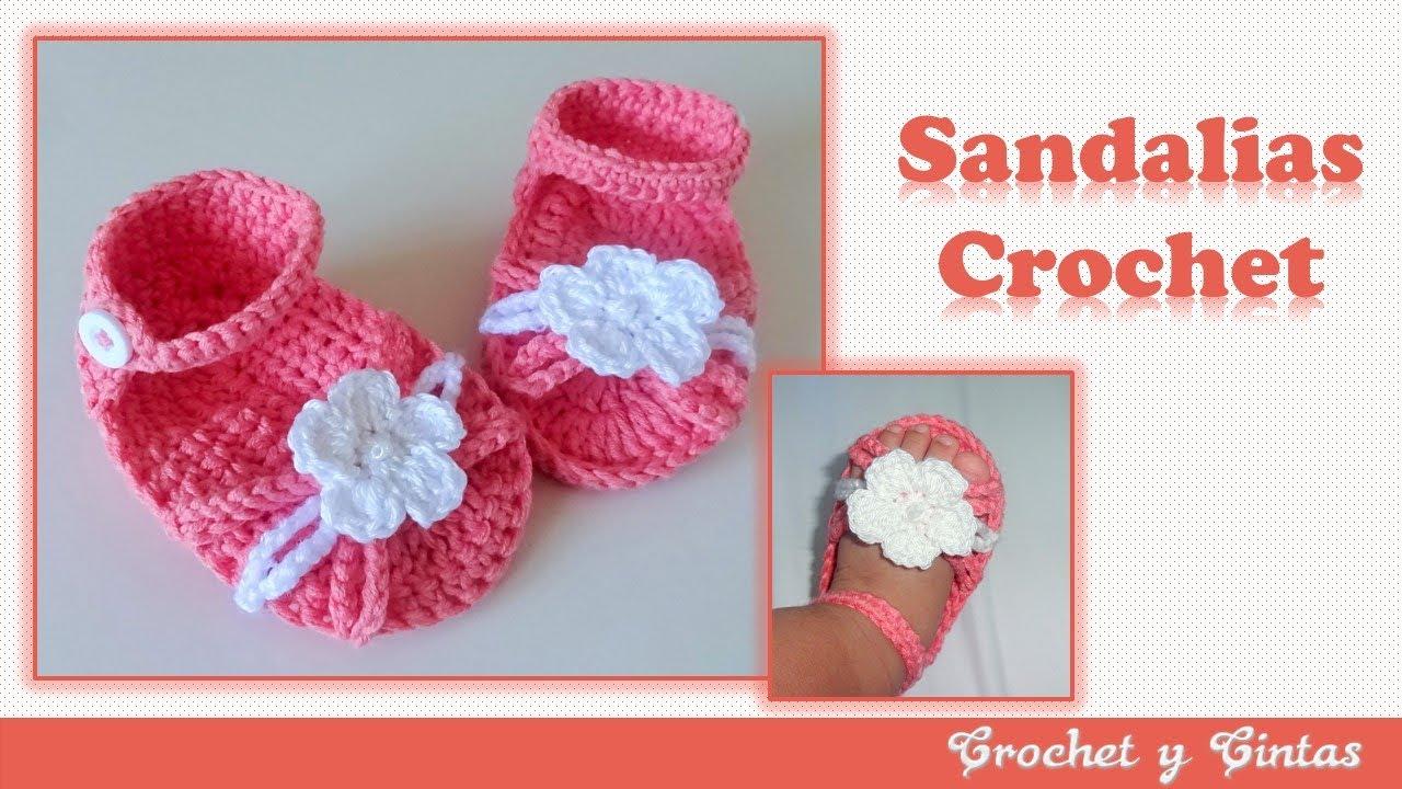Sandalias Crochetganchillo Con Flor Tejidas A X08nwOPk