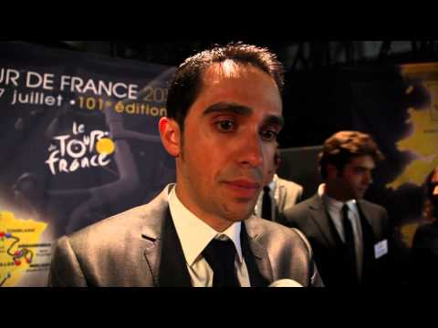 Alberto Contador on the 2014 Tour de France route