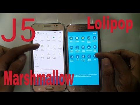 Samsung Galaxy J5 Marshmallows Vs Lolipop: Details Comparison