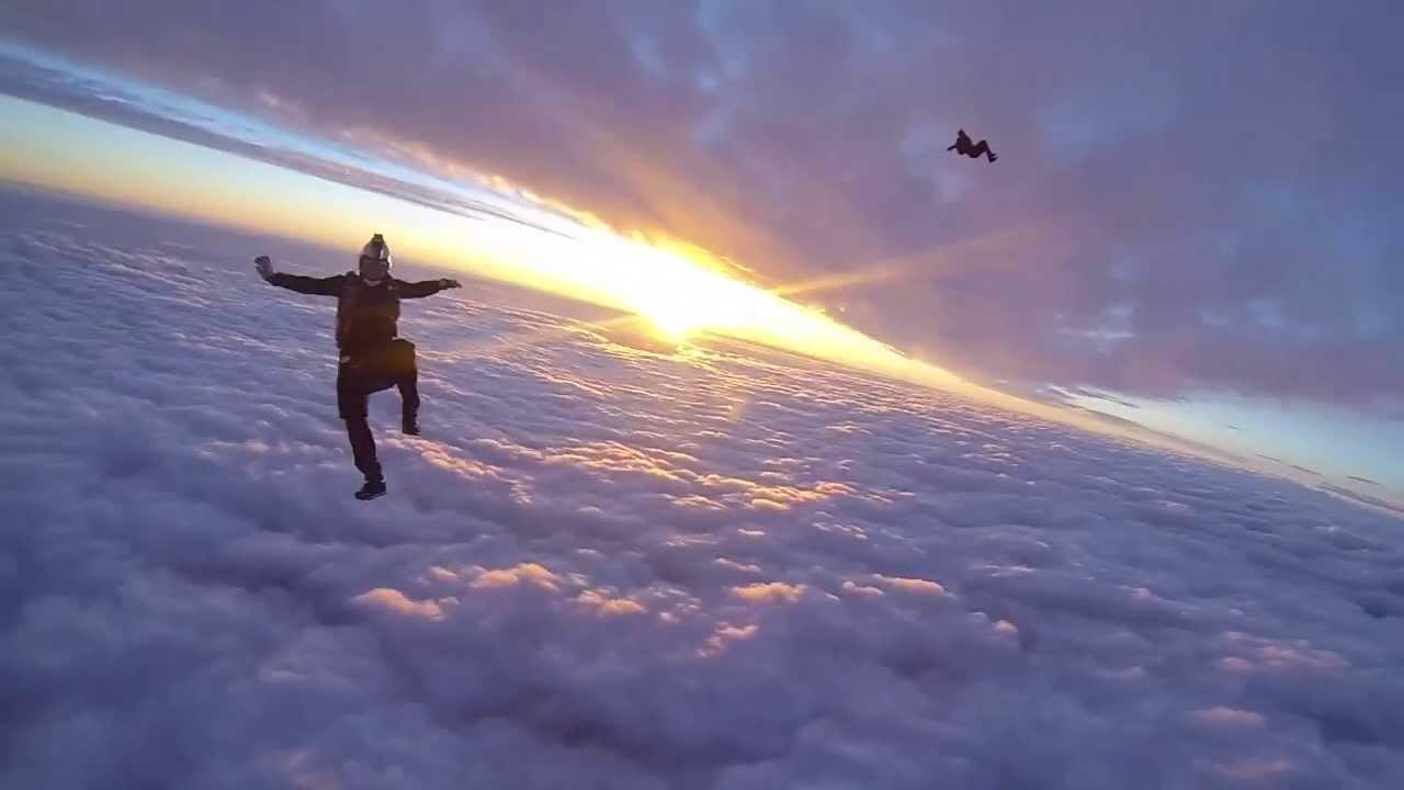 skydiving wallpaper sunset free - photo #10