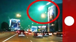 Une météorite illumine de vert le ciel de Thaïlande